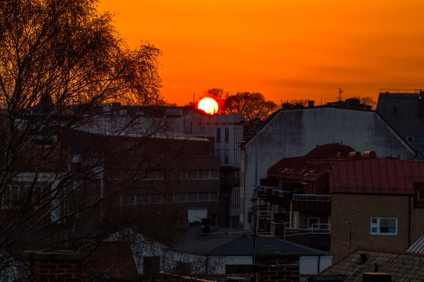 Lund, solnedgång 1